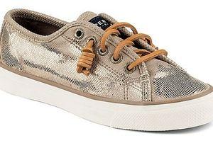 Sperry Seacoast Metallic Python Embossed Sneakers